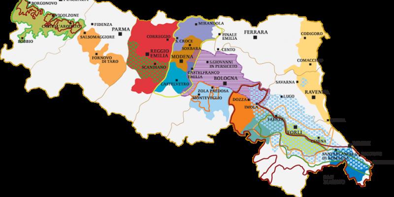 Wine Map Emilia-Romagna